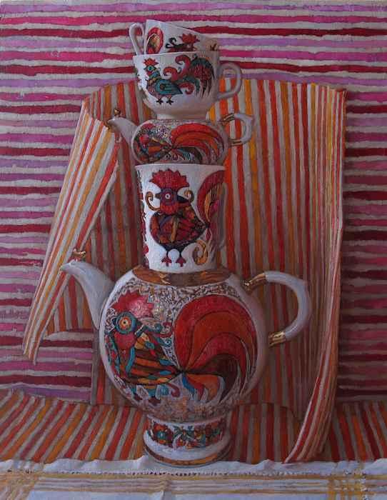 Russian Tea Party, VI by  Daud Akhriev - Masterpiece Online