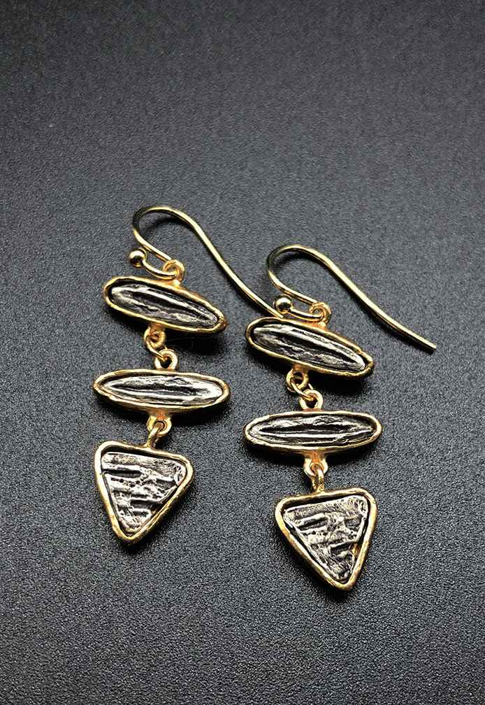 Contempo Birch Triple Dangle Earring