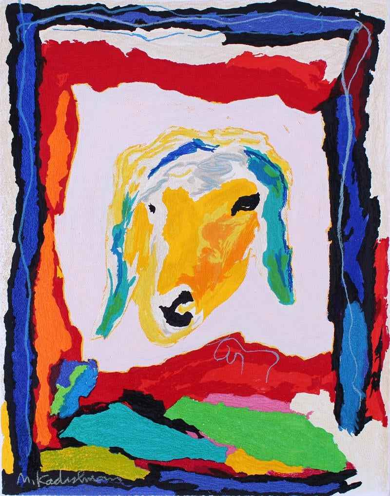 Sheep's Face by  Menashe Kadishman - Masterpiece Online