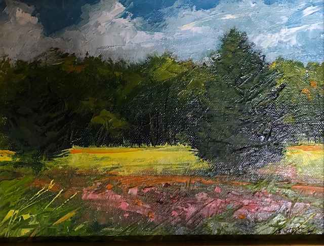 Morning Glory Field by  Sharon McCann Daly - Masterpiece Online