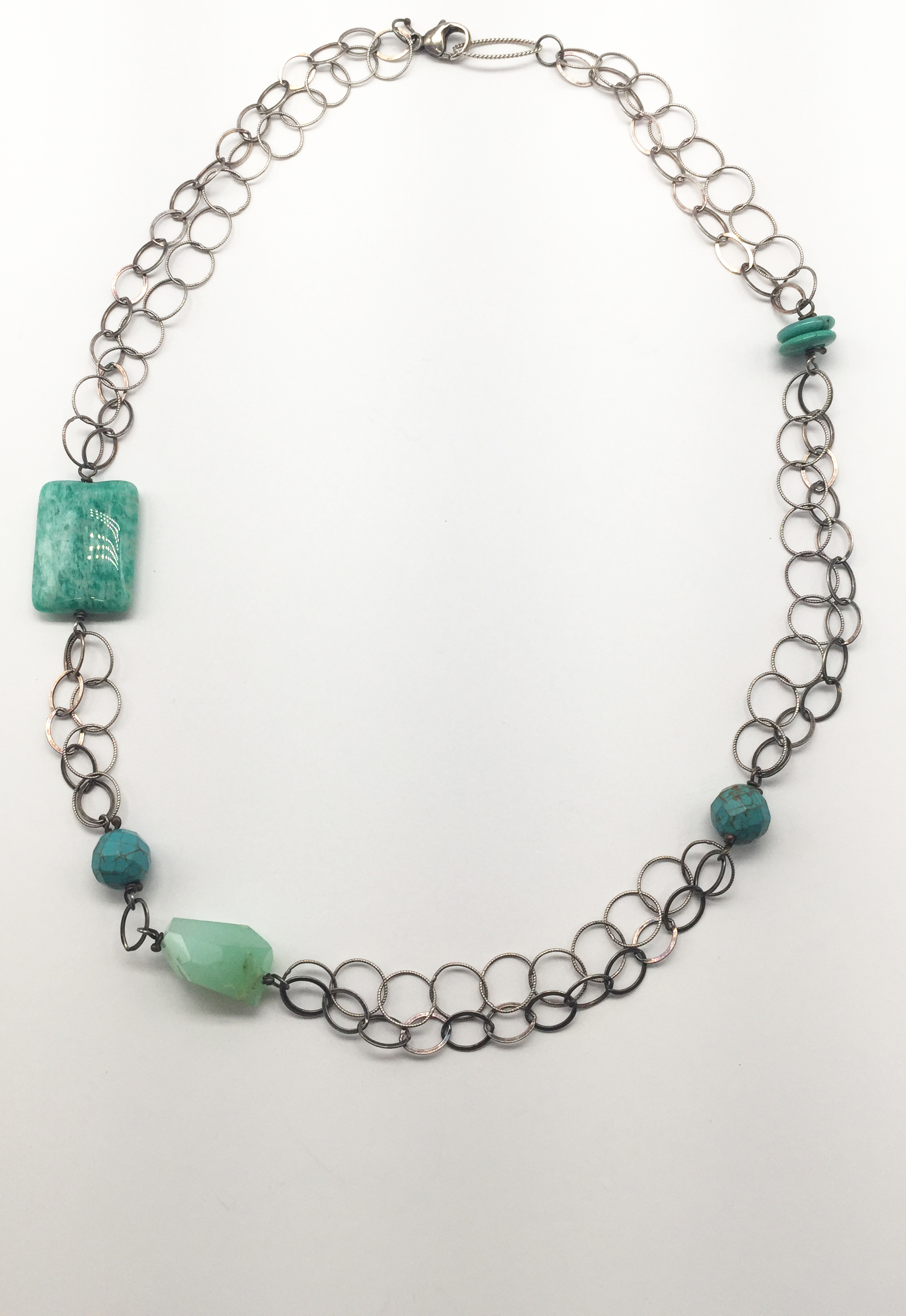 Green/Turquoise Multi-Stone Necklace