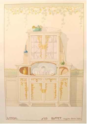 Art Nouveau Decorator... by  G. Raynal - Masterpiece Online