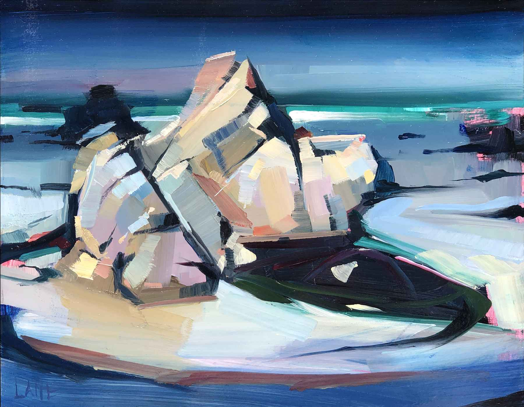 Apex Rock, Approachin... by Mr. Lane Bennion - Masterpiece Online