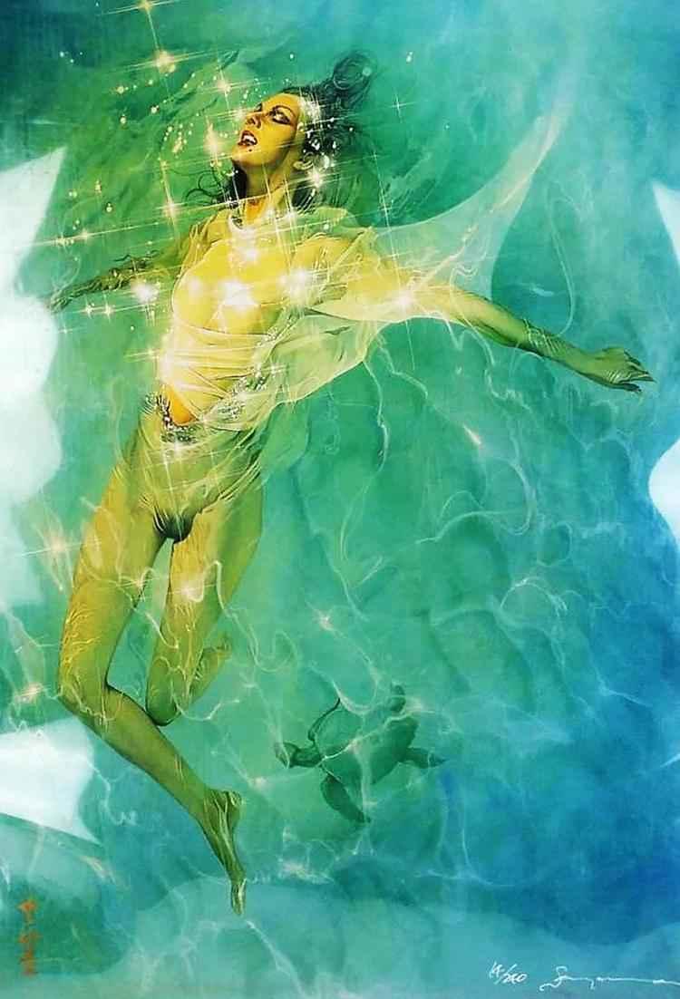 Swimming Nude by  Hajime Sorayama - Masterpiece Online