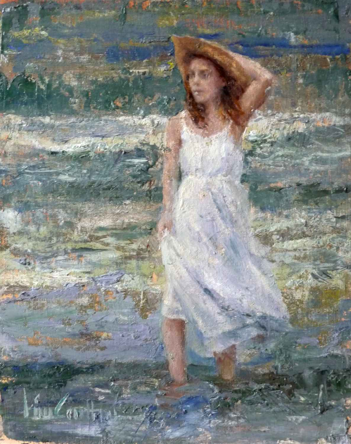 Christina in the Shal... by  Kim Carlton - Masterpiece Online