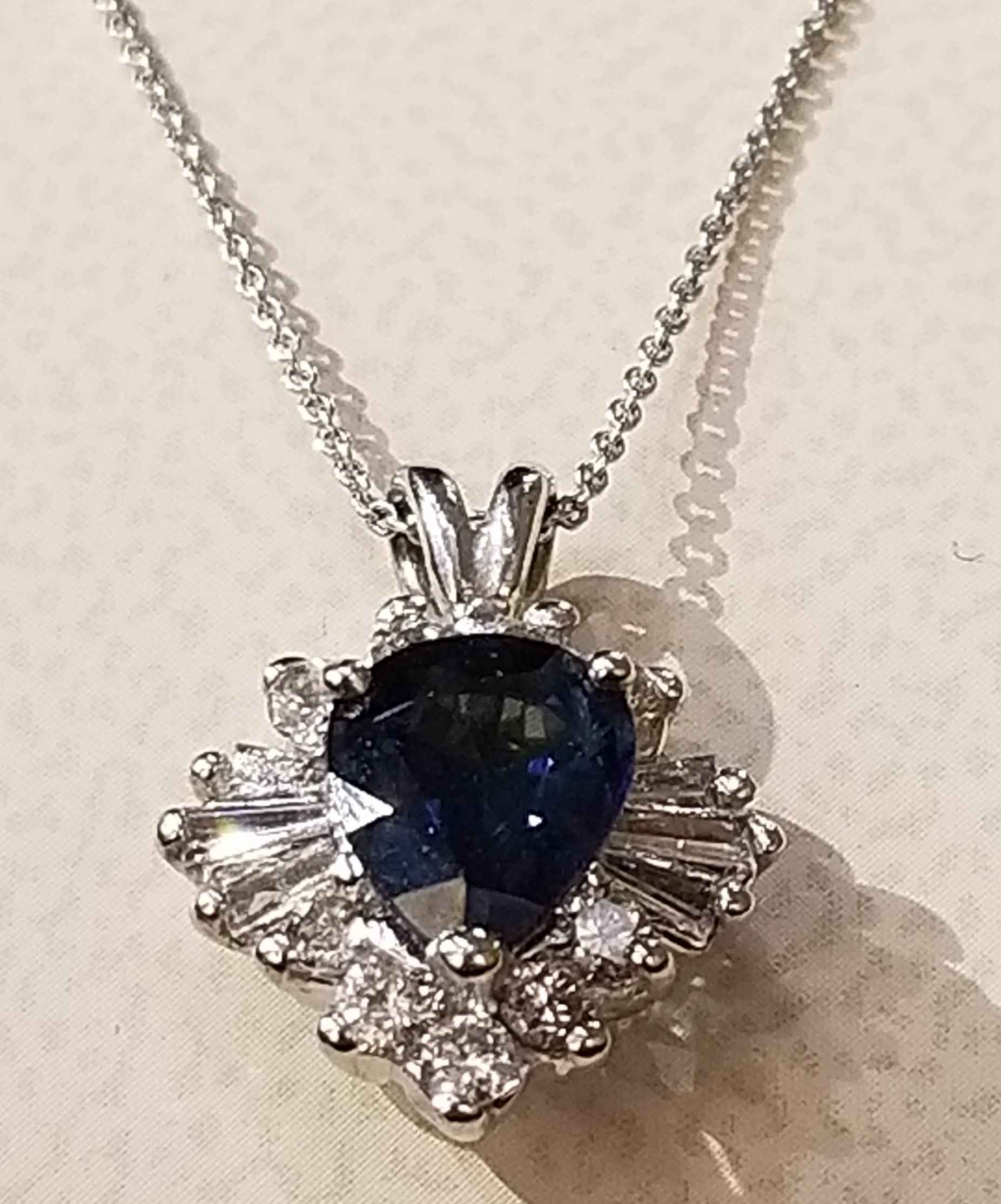 Sapphire Necklace - WG by  My Jeweler - Masterpiece Online