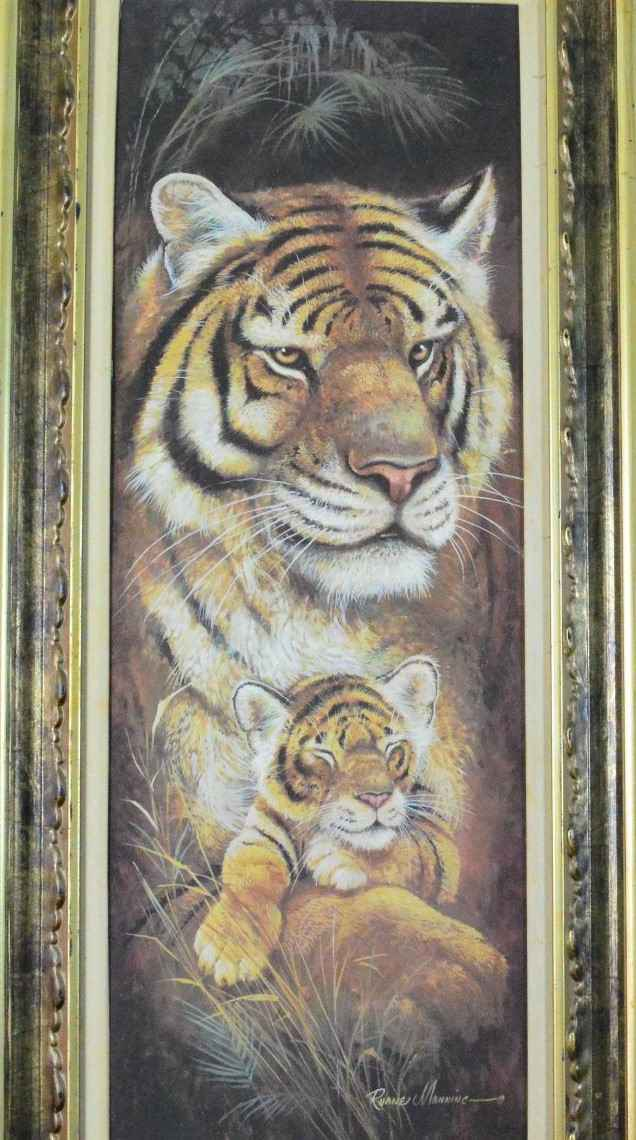 Tiger with Cub  by  Ruane Manning