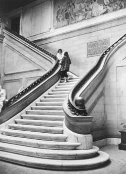 Staircase with studen... by  Alfred Eisenstaedt - Masterpiece Online