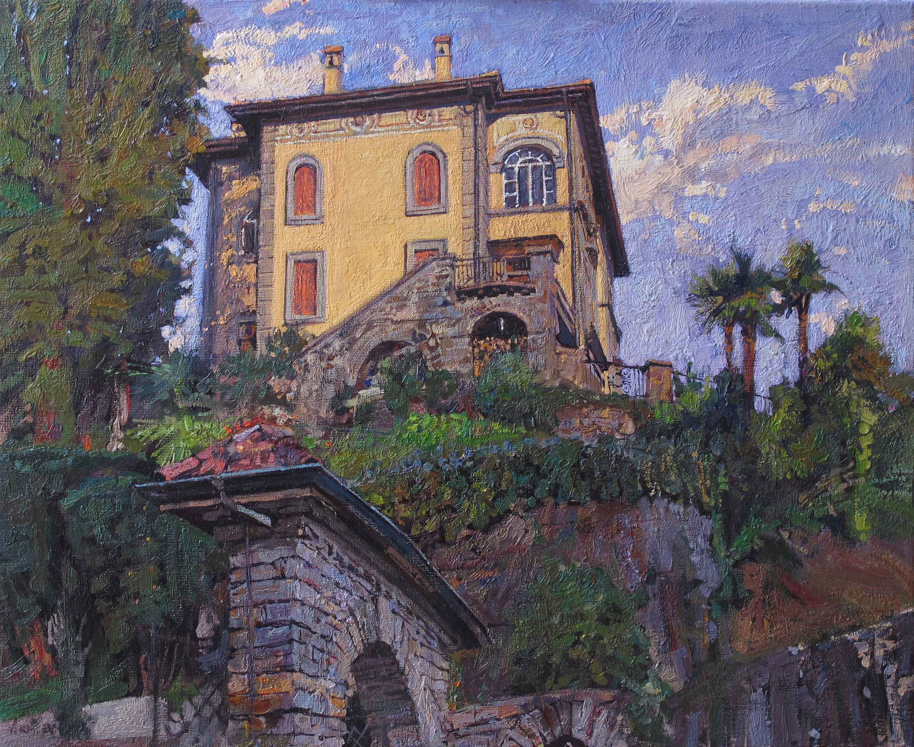Return to Villa Flore... by  Daud Akhriev - Masterpiece Online