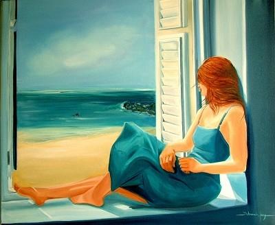 Azure (SOLD)  by  Deborah Levy