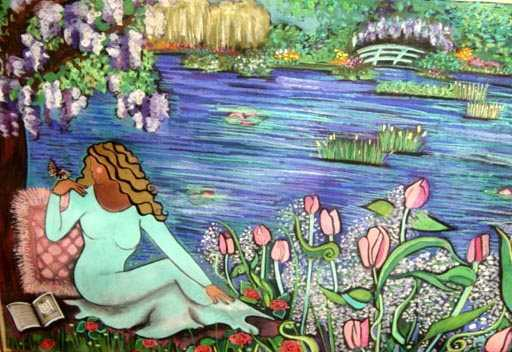 Gardens at Giverny AP  by  Andrea Smith