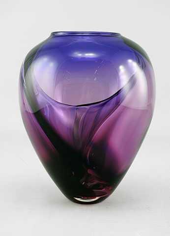 Wave Vase/Fuschia by  Michelle Kaptur - Masterpiece Online