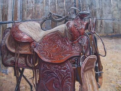 Heidi's Western Saddle by  Daud Akhriev - Masterpiece Online