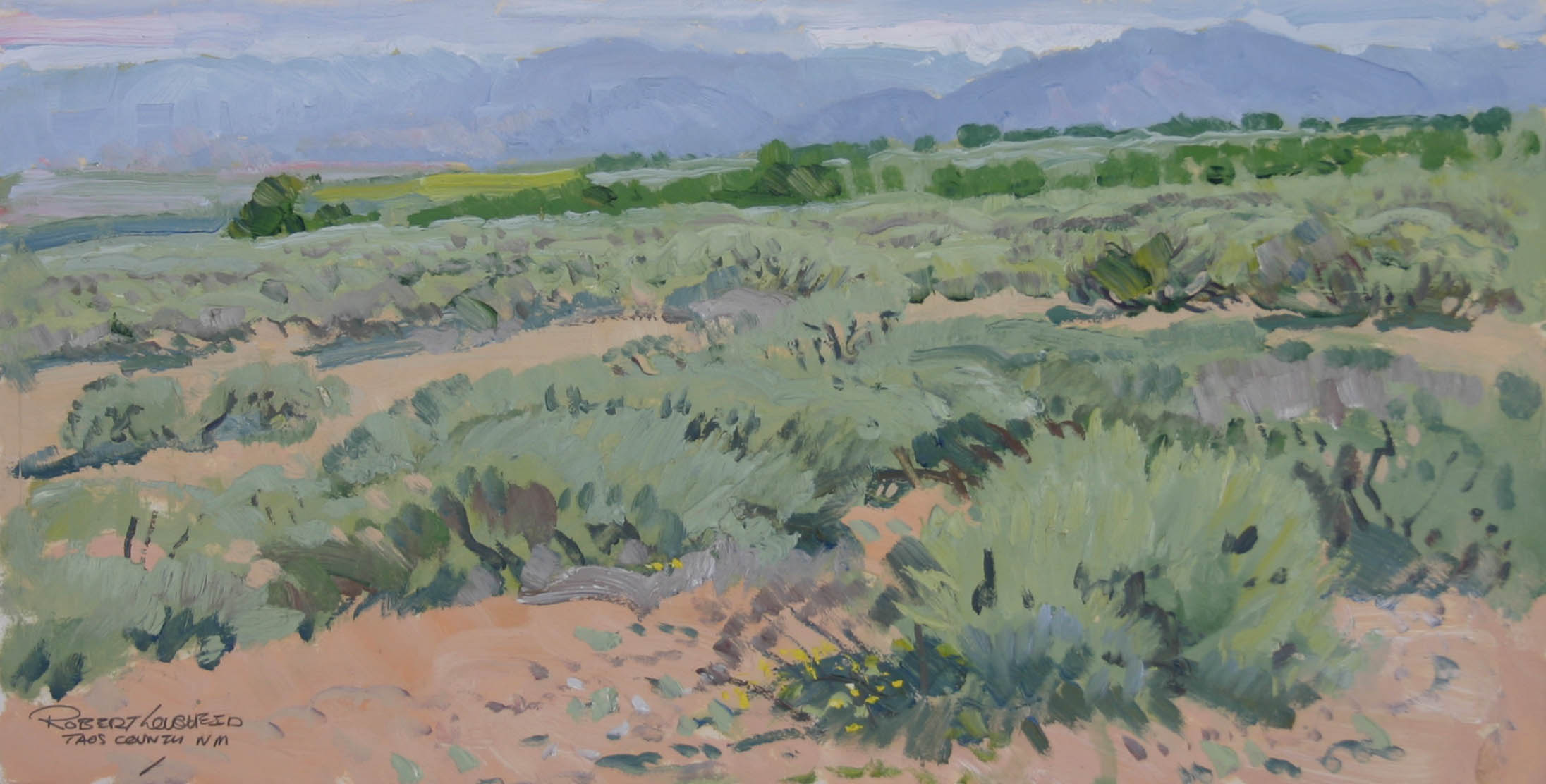 Chamisa Landscape Tao... by  Robert Lougheed - Masterpiece Online