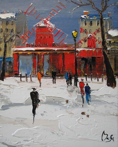 Snowy Moulin Rouge