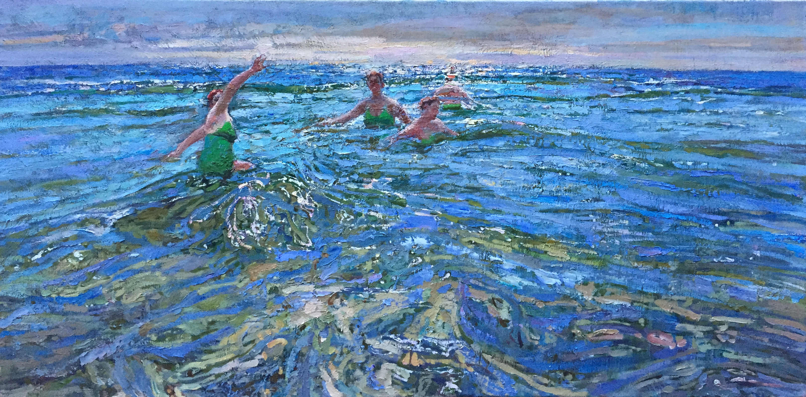 The Swimmer, Variation by  Daud Akhriev - Masterpiece Online