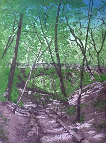 Lake Park Ravine V by  Susan Baehmann - Masterpiece Online