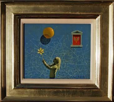 Alana's Pinwheel by  Robert Vickrey - Masterpiece Online