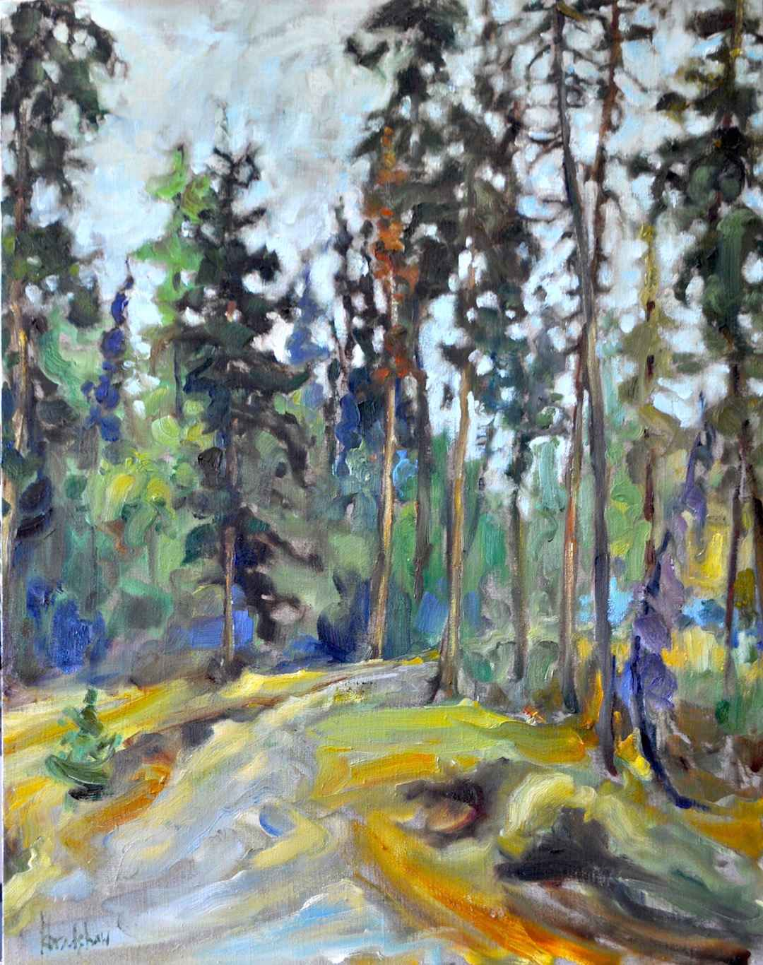 Forest Walk by  Kathy Bradshaw - Masterpiece Online