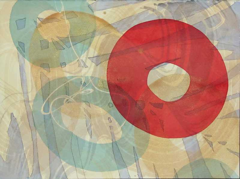 Red Circle Series 4 by  Curt Ginther - Masterpiece Online
