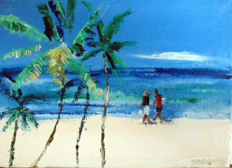 Beach  Stroll by Dr Hilary Warren - Masterpiece Online