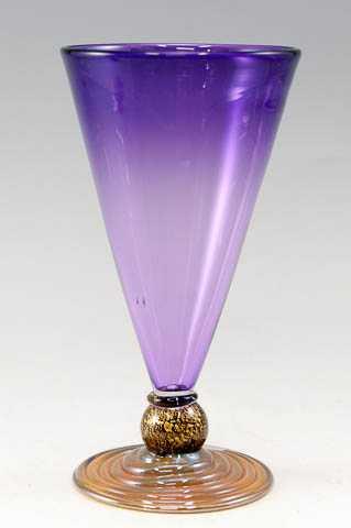 Cone Goblet/Purple by  Alex Brand - Masterpiece Online