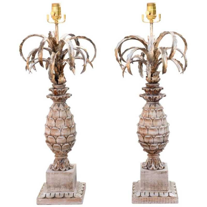 Pair of Carved Wood a... by  Italian  - Masterpiece Online