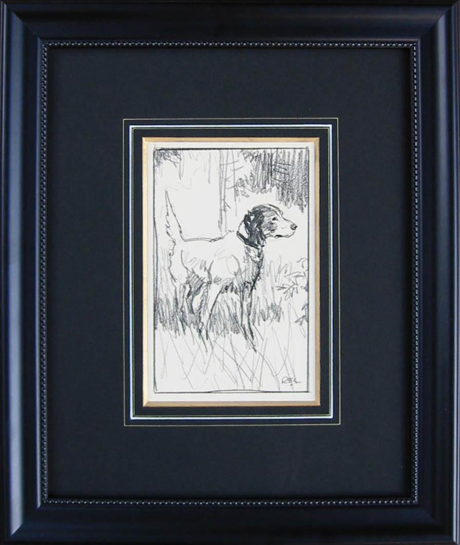 D 3001 Hound Drawing 2 by  Robert Lougheed - Masterpiece Online