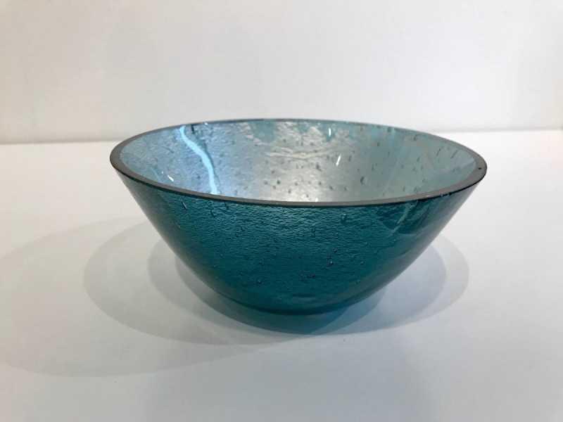 Teal Blue/Silver Leaf... by  Jo McKechnie - Masterpiece Online