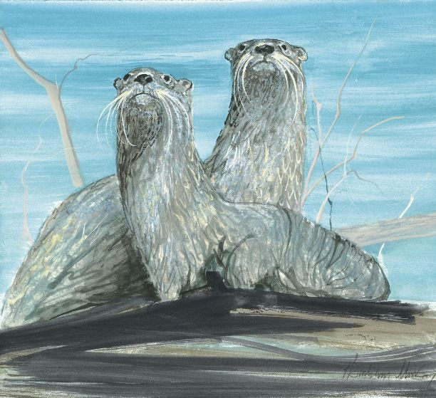 CURIOUS PAIR by  P. Buckley Moss  - Masterpiece Online