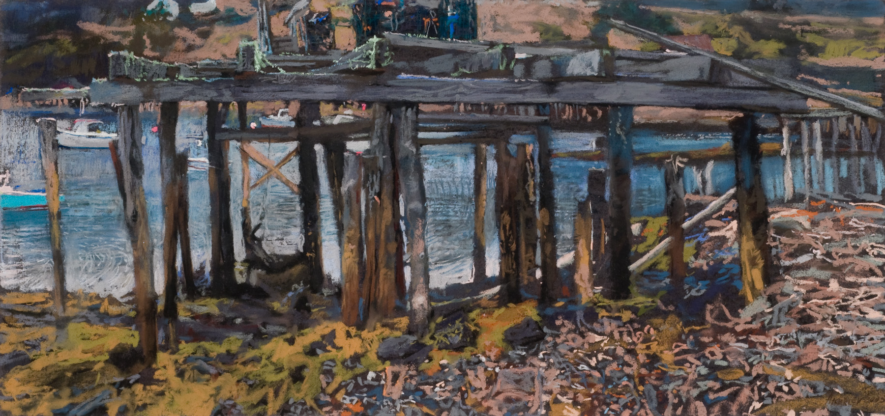 Frenchboro Harbor at ... by  Daud Akhriev - Masterpiece Online