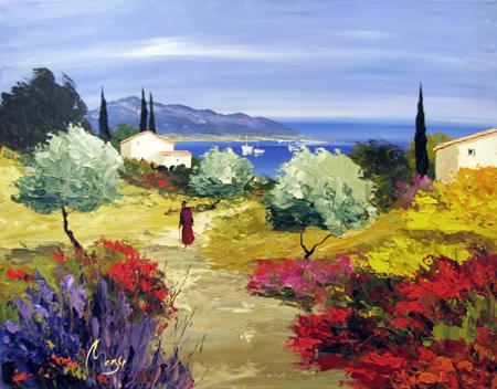 A L' Heure de la Sies... by  Louis  Magre - Masterpiece Online