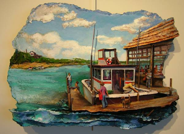 A Good Day Fishing by  Amy F.  Levine - Masterpiece Online