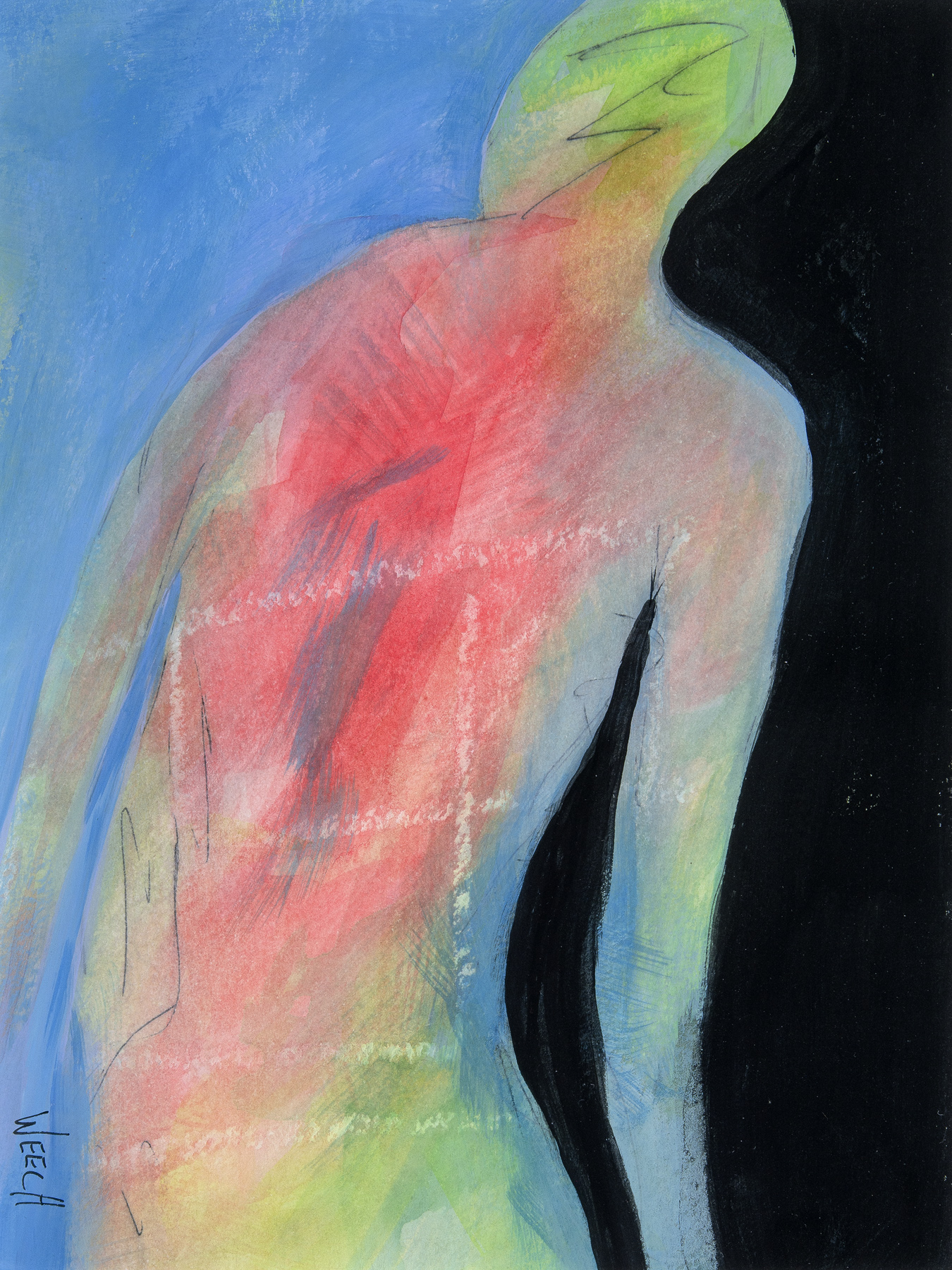 Abstract Visitor by  Paula Weech - Masterpiece Online