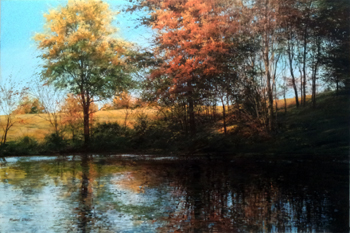 The Big Pond - Octobe... by  Michael Wheeler - Masterpiece Online