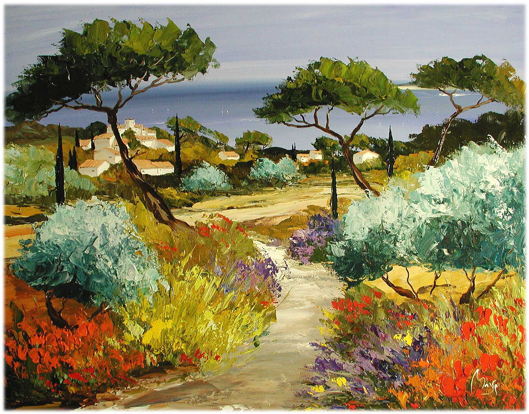 Coastal Village by  Louis  Magre - Masterpiece Online