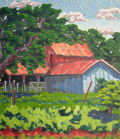 Farm on Creek Road, D... by  Char  Michelson  - Masterpiece Online