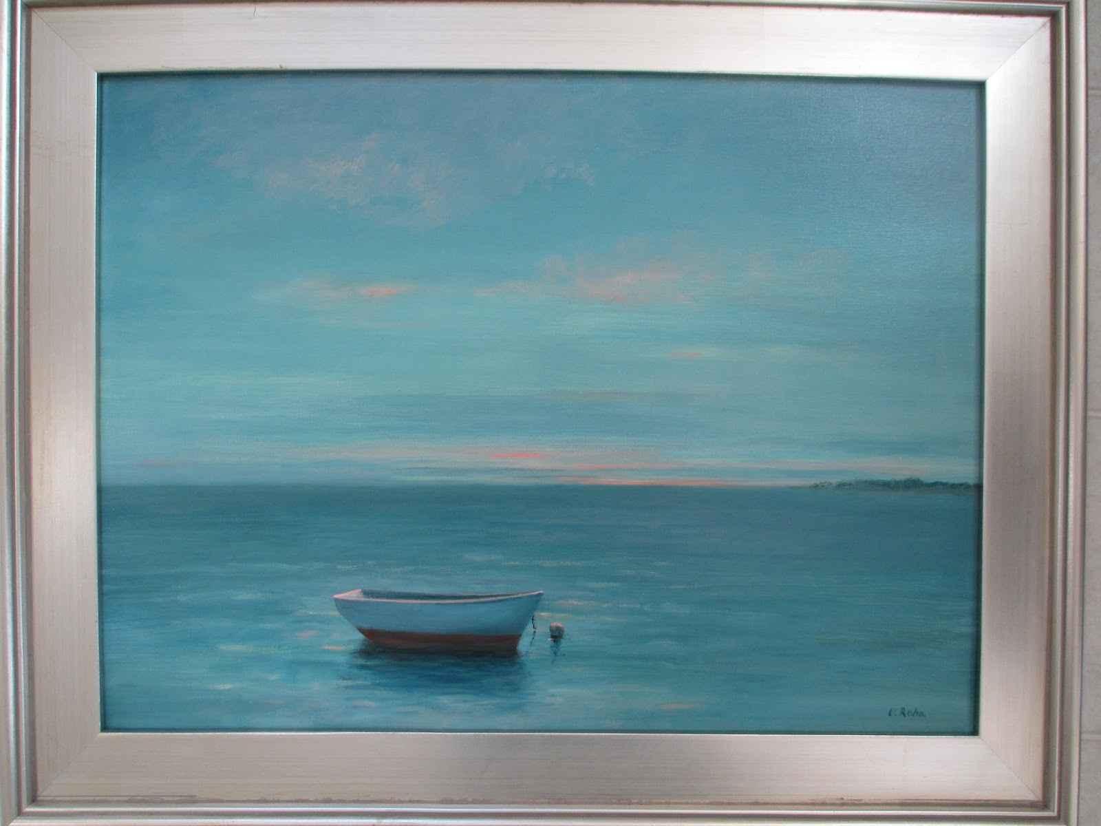Seascape With Dinghy  by  Vera Rahn