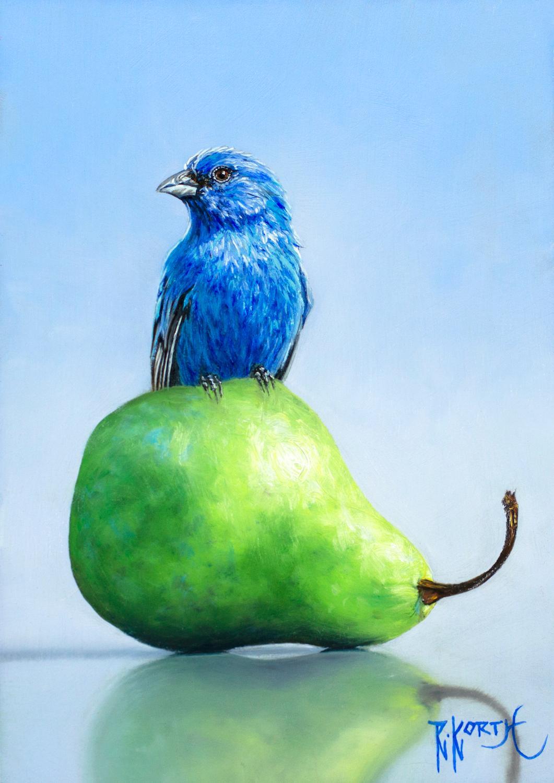 Indigo on Pear