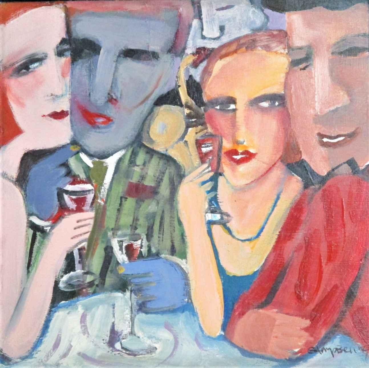 Untitled ( Wine drink... by  Sandra Jones-Campbell - Masterpiece Online