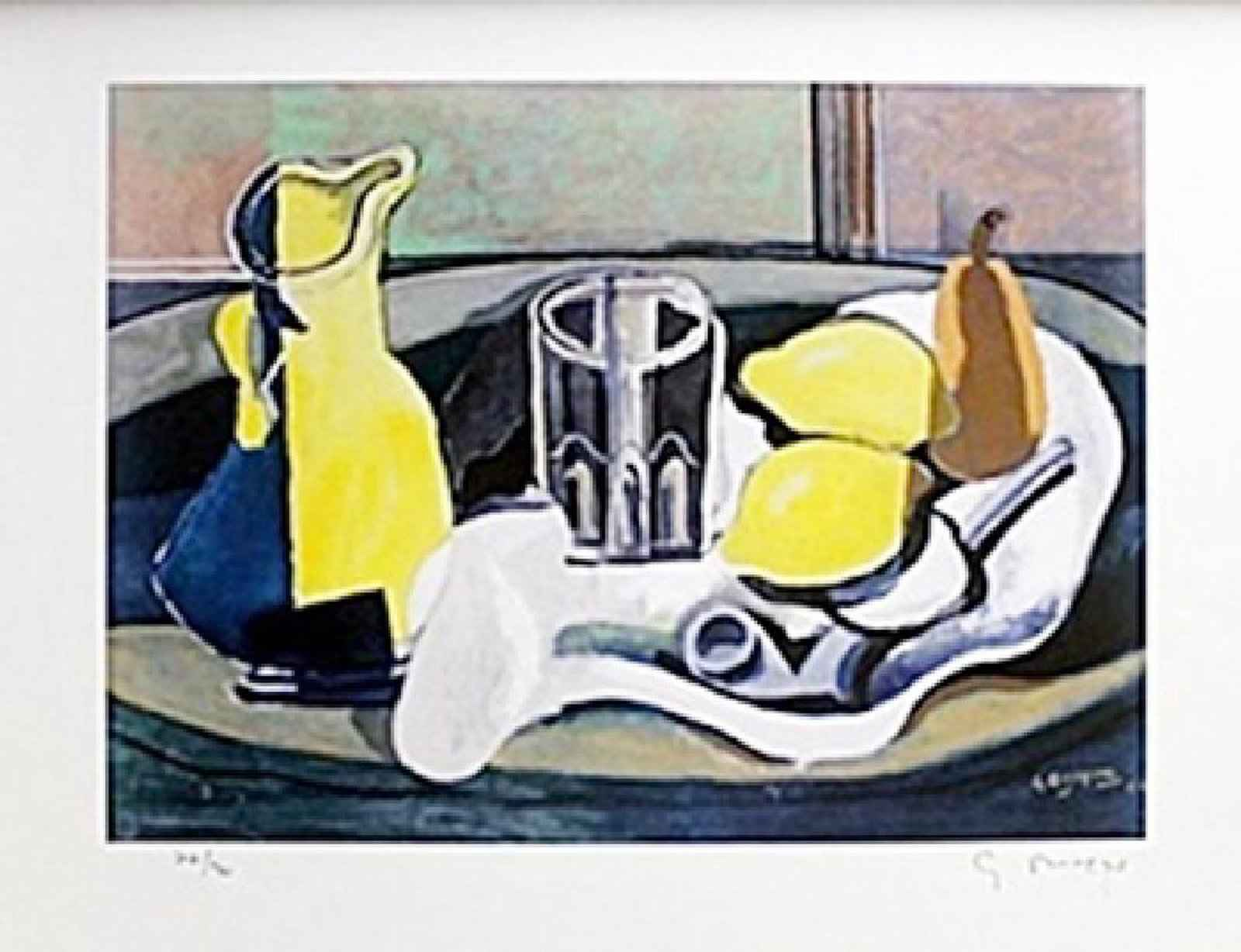 Still Life With Lemon... by  Georges Braque - Masterpiece Online