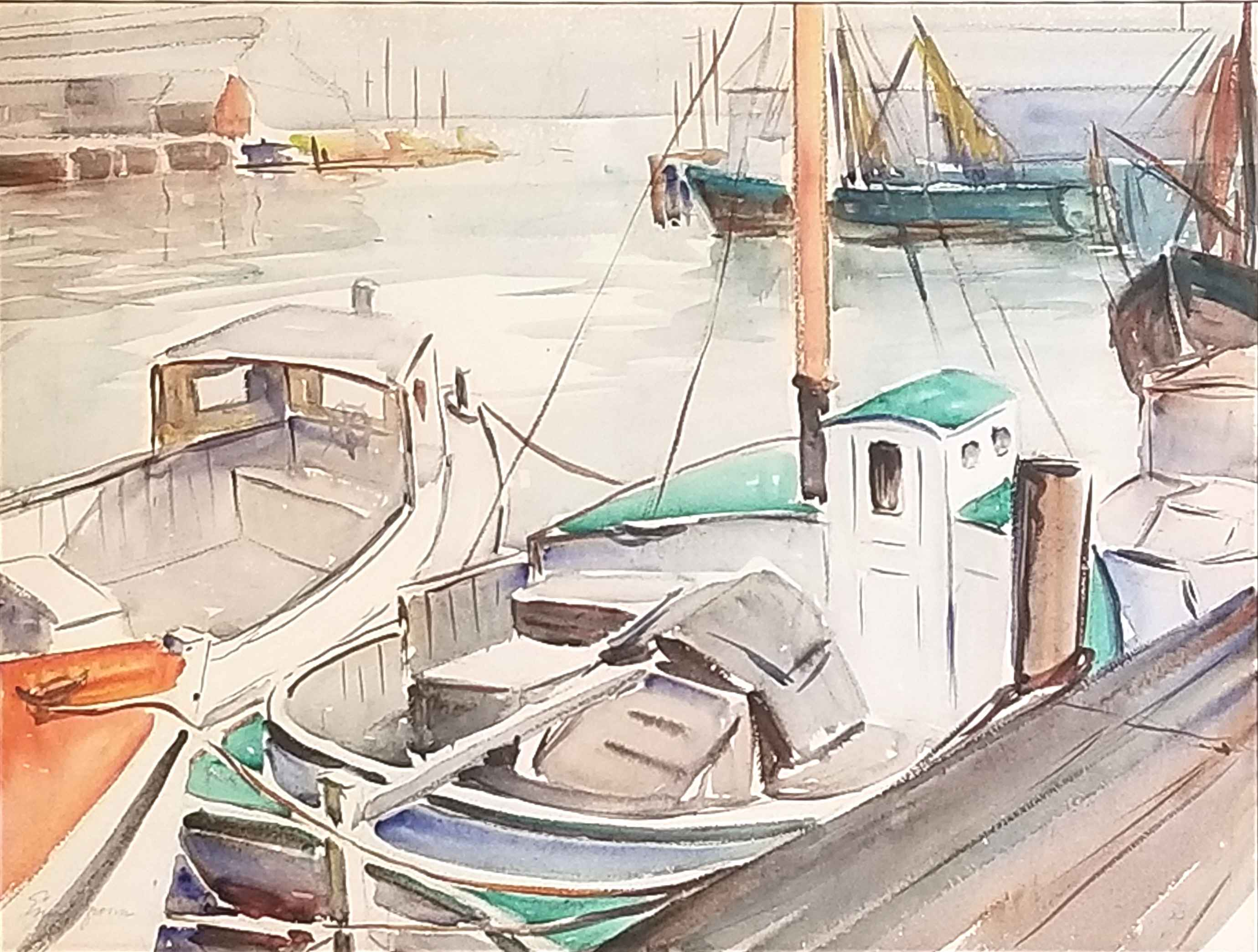 Untitled - Boats in H... by  Emily Groom - Masterpiece Online