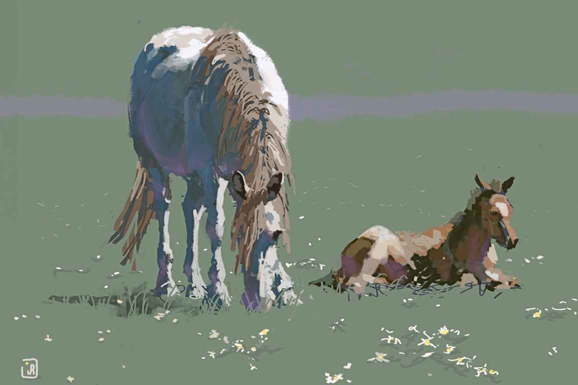 Mare and Colt AL (LG) by Mr. & Mrs. Jim Rey - Masterpiece Online