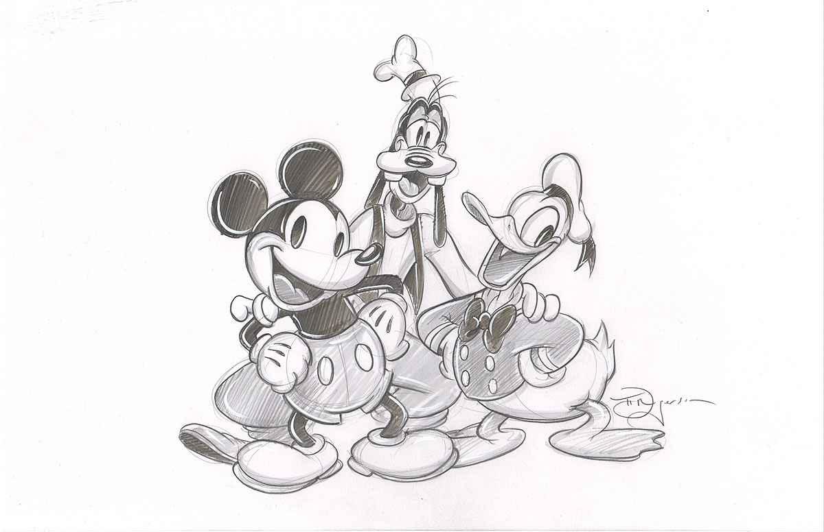 Fabulous Trio Sketch by  Tim Rogerson - Masterpiece Online