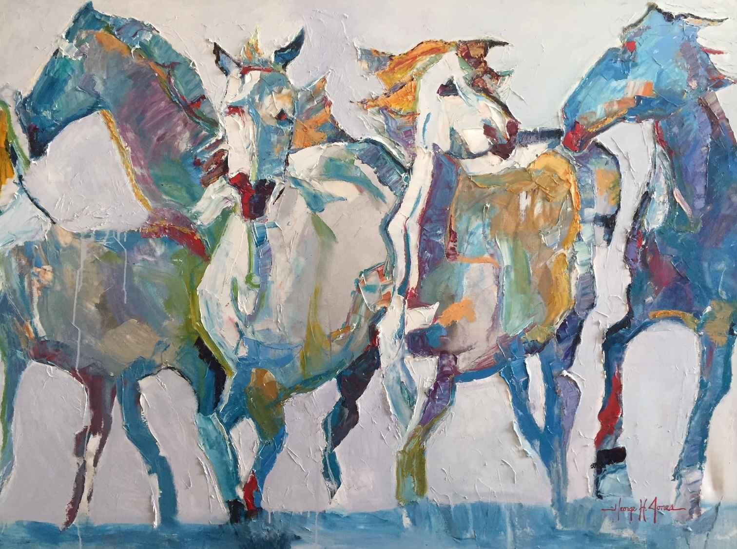 Party Ponies  by  George H Jones