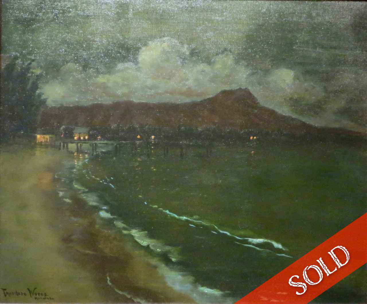 Diamond Head by Moonl... by  Theodore Wores (1859-1939) - Masterpiece Online