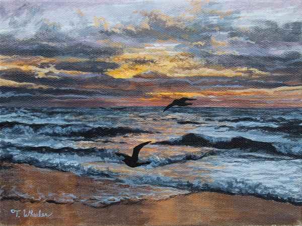 Pacific Sunset - Study by   Teresa  Wheeler - Masterpiece Online