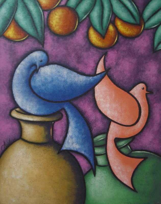 Abstract Vases by  Haitian Fine Art  - Masterpiece Online