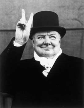 Winston Churchill, Li... by  Alfred Eisenstaedt - Masterpiece Online