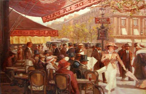 Cafe de la Paix by  Leon Zeytline - Masterpiece Online